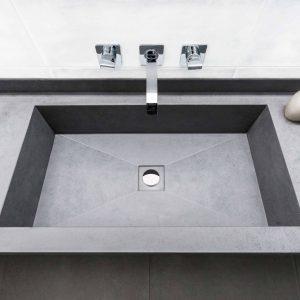 Baños con lavabo en Laminam Blend Grigio
